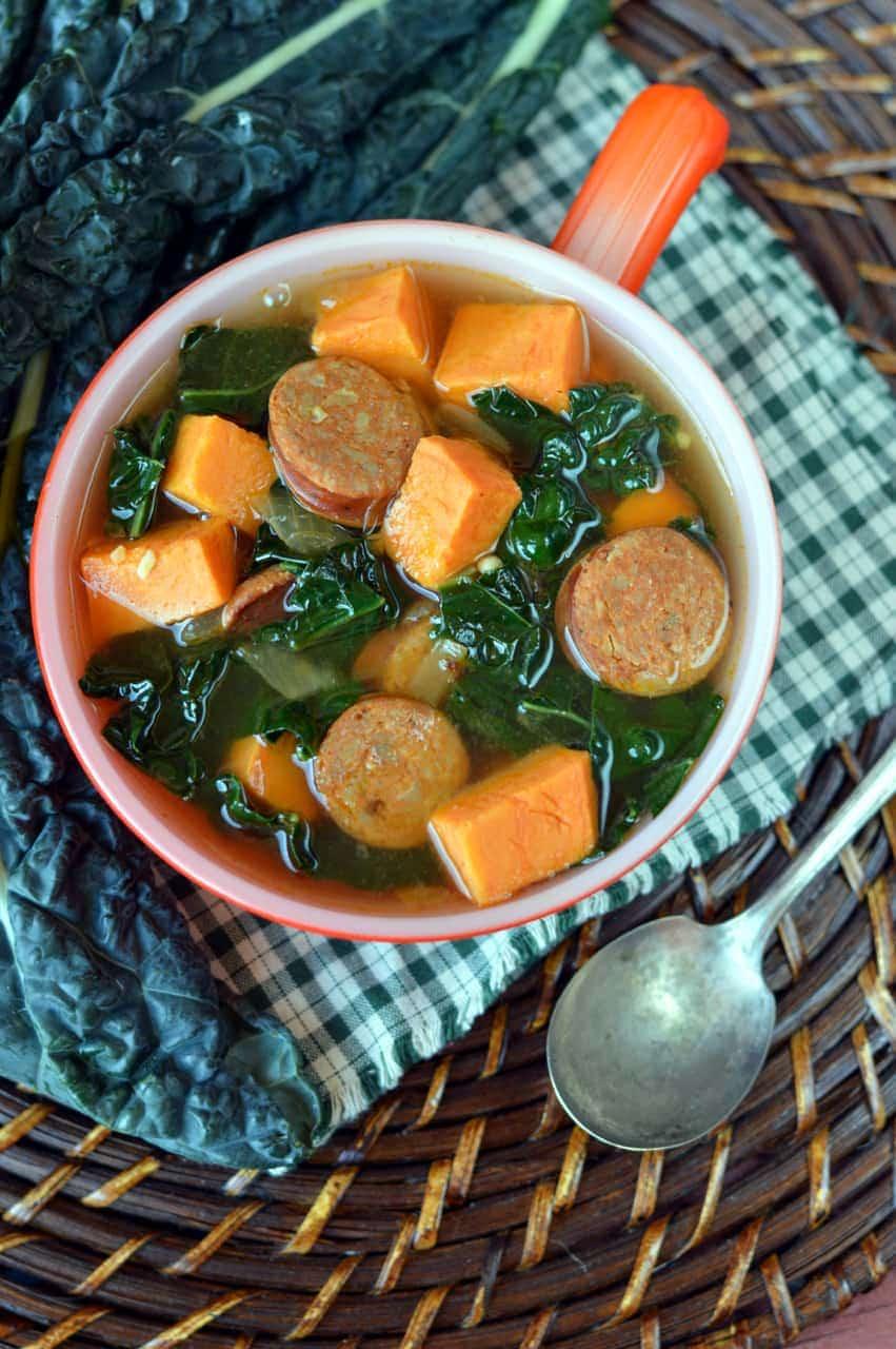 Paleo Cajun Sausage Soup