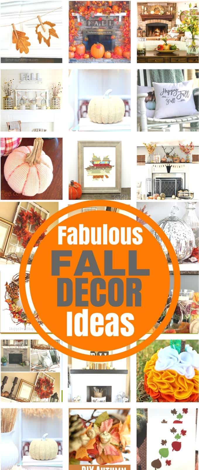 Easy Fall Decorating ideas for your home, mantle and more ideas for Fall Porch decor too! We have Inexpensive Fall Decor ideas that will work for any budget as well as some really crafty home made fall decor ideas too!