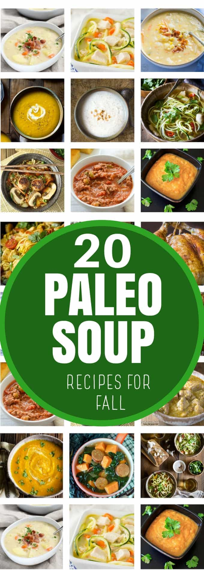 20 EPIC Paleo SOUP recipes for FALL you won't want to miss! Gluten Free