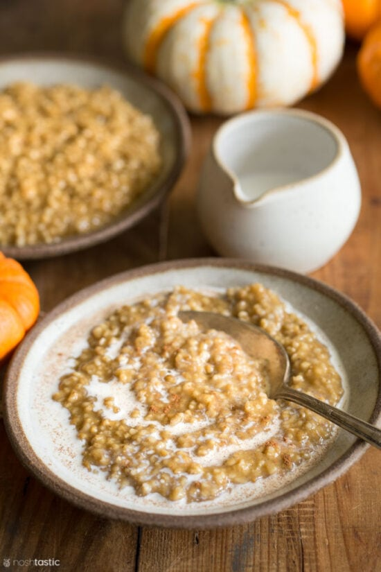 Instant Pot Pumpkin Pie Steel Cut Oatmeal Recipe