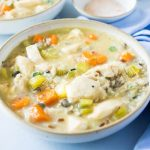 The BEST pressure cooker chicken and Wild Rice soup recipe, it's gluten free, healthy, tasty and unbelievably easy to make in your electric pressure cooker.