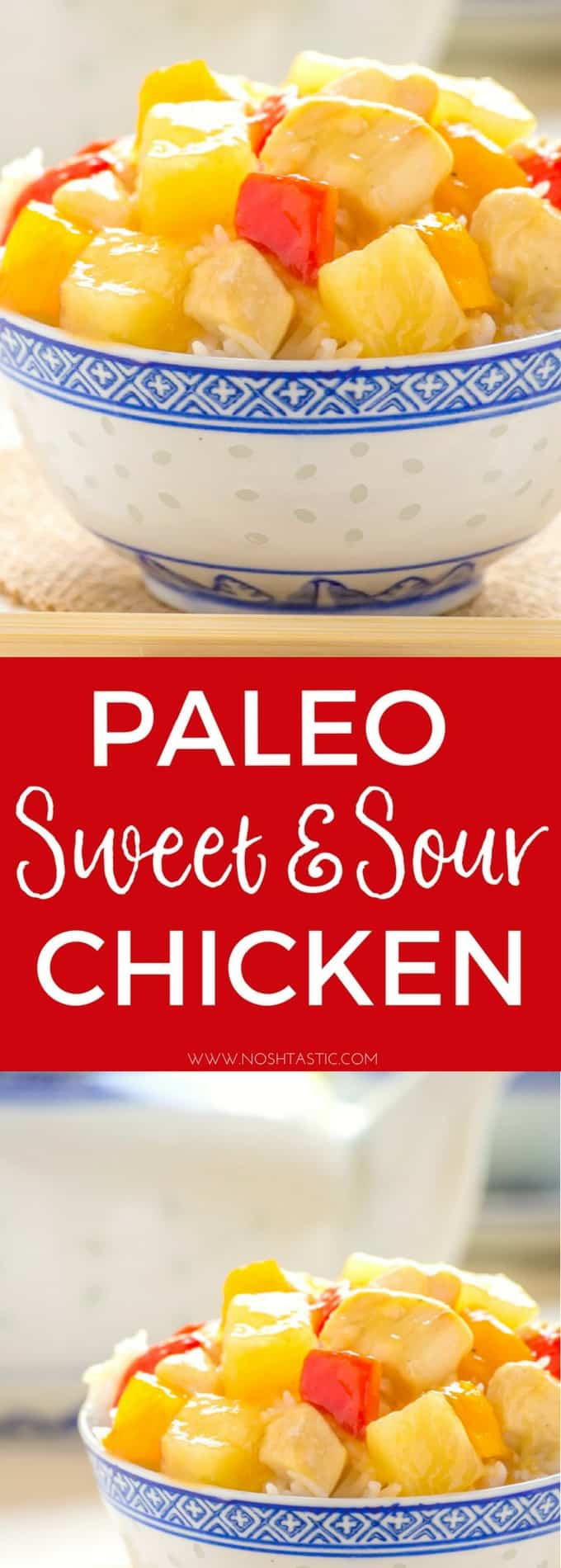 Paleo Sweet and Sour Chicken Recipe that is made in about 15 Minutes! So EASY! #paleo #glutenfree #paleochinese #paleochicken #paleodinner