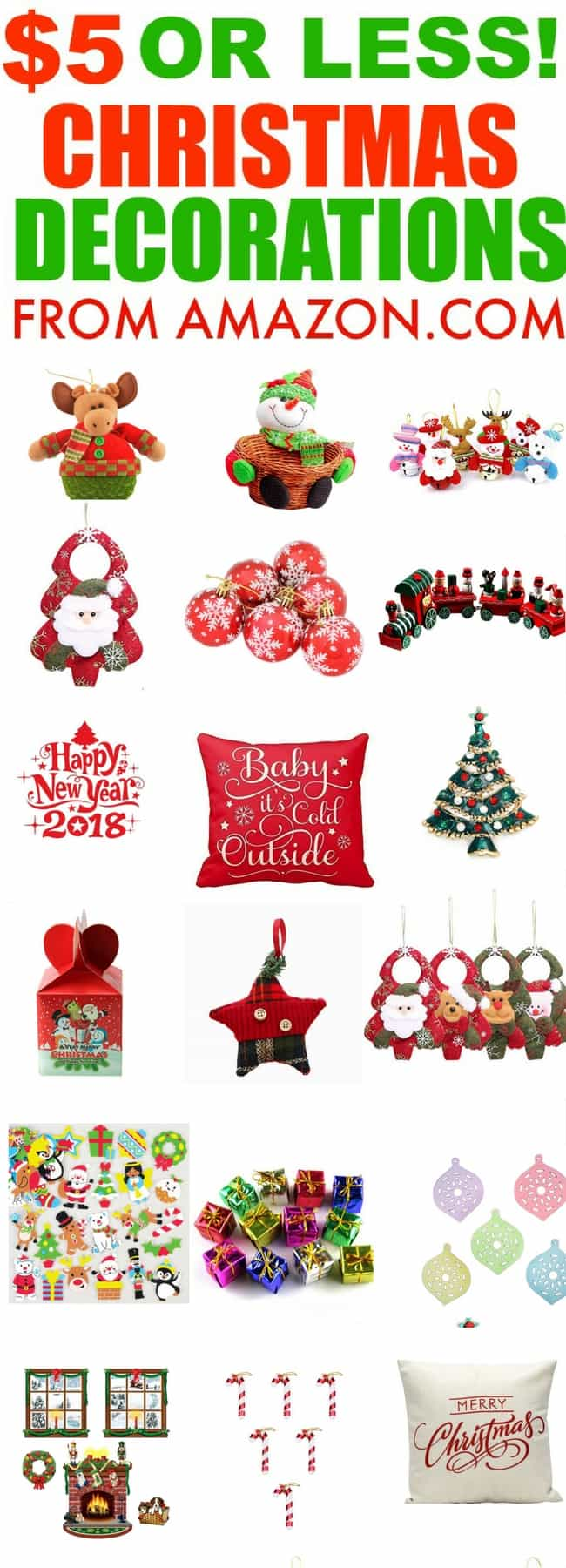 5 christmas decorations from amazon some of them are even less than five dollars - Cheap Christmas Decorations