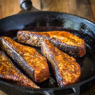 Blackened Salmon with Homemade Blackened Seasoning, an easy low carb, Paleo & Whole30 salmon recipe that you'll love!