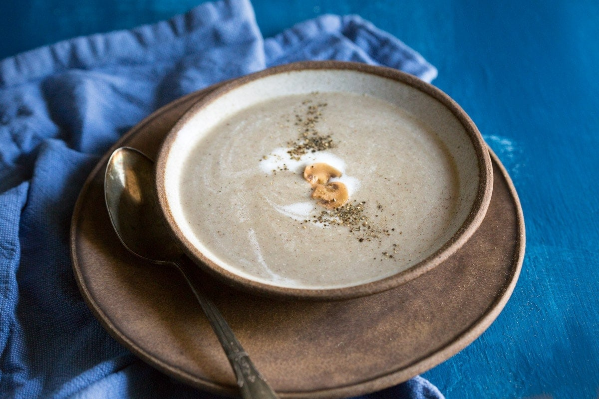 Recipe for Paleo Cream of Mushroom Soup you'll try, you can make it in less than 30 minutes and it's Whole30 too! #paleo #whole30 #paleosoup #whole30soup #glutenfree #paleorecipe #whole30recipe