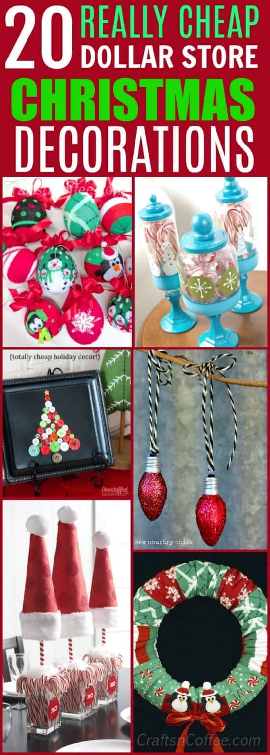 20 easy and cheap dollar store christmas decorations you can make at home