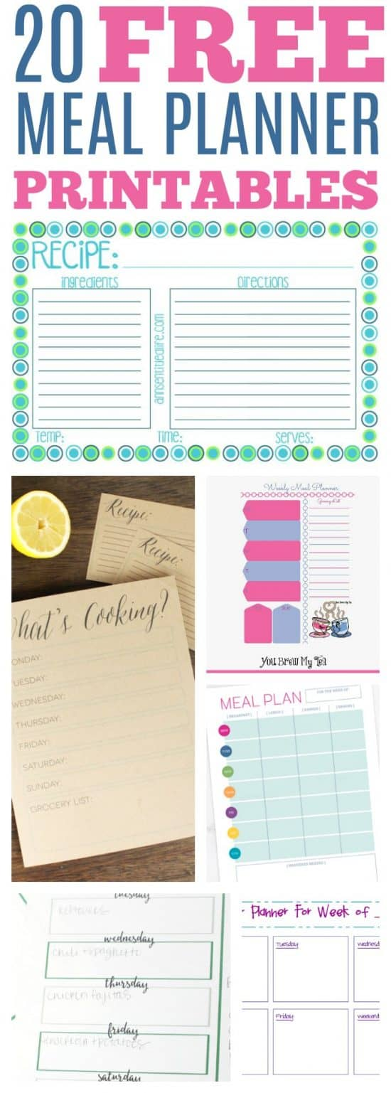 Free Printable Meal Planners, meal planner template, meal planner with grocery list, free meal planner printable, monthly meal planner template #mealplanner #menuplanner #freeprintable #freemealplanner #freemenuplanner #grocerylist #freegrocerylist #freeprintablemealplanners #monthlymenu