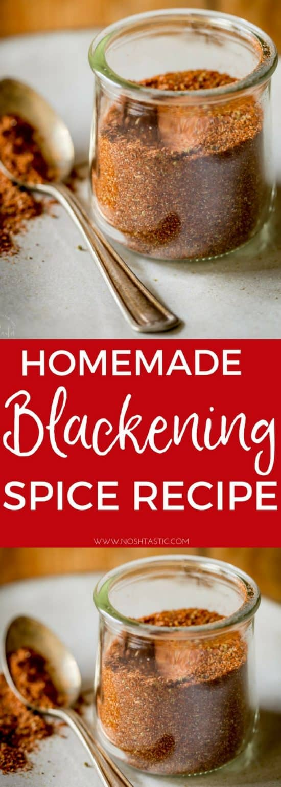 The BEST Homemade Blackened Seasoning recipe with easy tips for cooking with it! It's naturally gluten free, paleo, Whole30, Low Carb and Keto compliant, there is no sugar added. This is a variation of Paul Prudhomme's Blackened Seasoning Blend, a really easy blackening spice recipe to make at home #blackeningspice #paleo #lowcarb #keto #ketodiet #ketogenic #whole30 #w30 #glutenfree #spicerub #spices