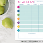 meal planner printables