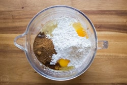 almond flour, tapioca and eggs for making paleo pie crust