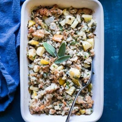You'll love my easy Paleo Thanksgiving Stuffing recipe, a perfect accompaniment to your Thanksgiving Turkey dinner!