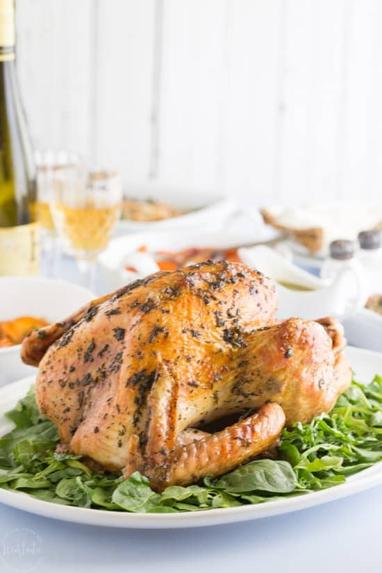 Paleo Thanksgiving Turkey Recipes with Fresh Herb Rub, a very easy recipe that will wow your family this Thanksgiving! #paleothanksgiving #paleo #whole30 #paleoturkey Whole30turkey #whole30thanksgiving #healthyrecipe #keto #lowcarb #glutenfree #ketogenicdiet #holidays #thanksgiving