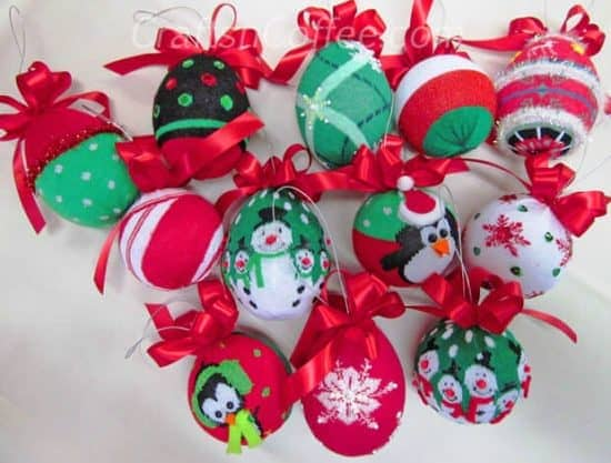 Dollar store Christmas - sock ornaments