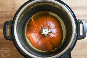 cooked pumpkin in pressure cooker