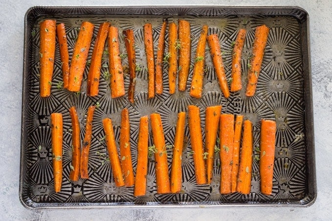 Paleo carrots in the oven