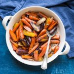 Paleo Glazed Carrots with Honey and Thyme in a bowl