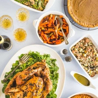 No need to worry, I've got you covered for your Paleo Thanksgiving Dinner Menu! All healthy, all tasty and all made from scratch, including Paleo Thanksgiving Turkey, and updated healthy Paleo Green Bean Casserole, Paleo Pumpkin Pie, Paleo Thanksgiving Stuffing and more! #paleo #paleothanksgiving #healthythanksgiving #thanksgivingmenu #glutenfreethanksgiving #glutenfree