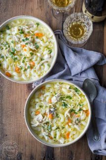 This is a really easy, from scratch, Pressure Cooker Chicken Noodle soup recipe, I promise! The beauty of making this in your pressure cooker is that you can create a really lovely, flavorful, broth for the soup in about 20 minutes.