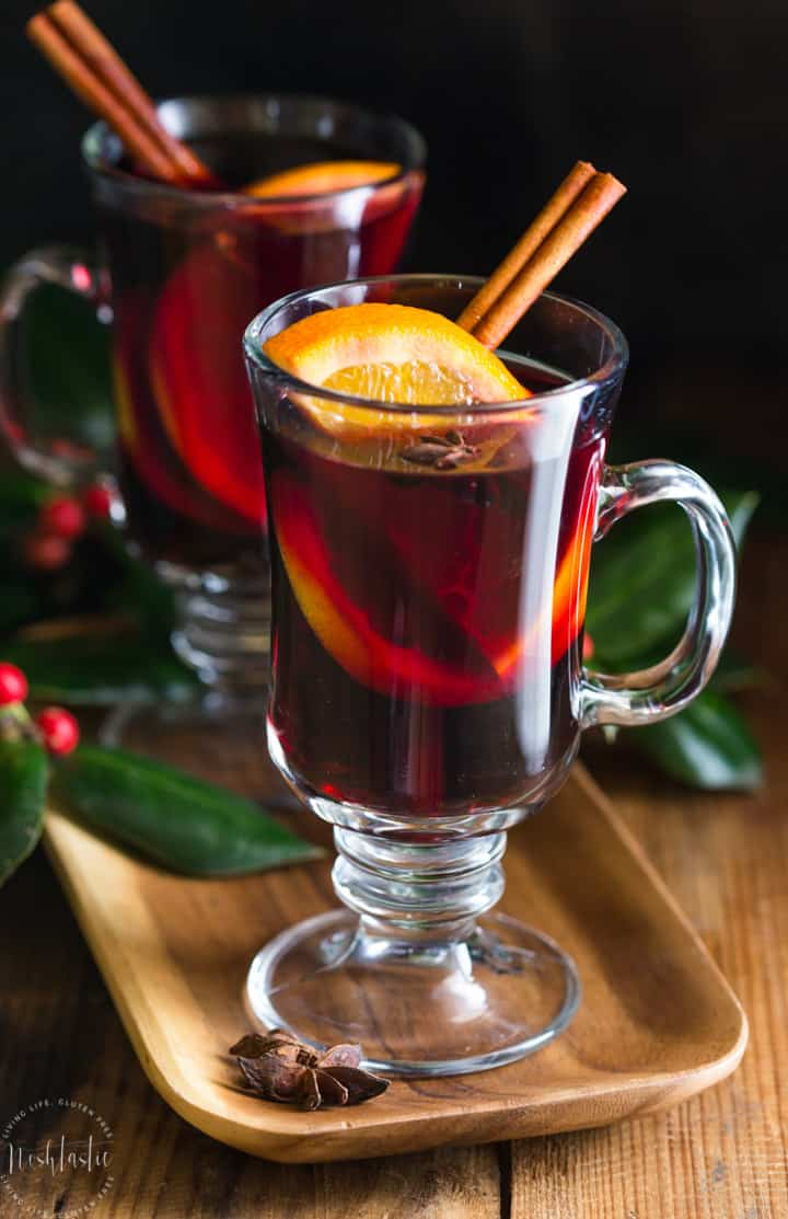 This mulled wine recipe is easy to make in a crockpot or on the stovetop! It's a perfect drink for the holiday season,