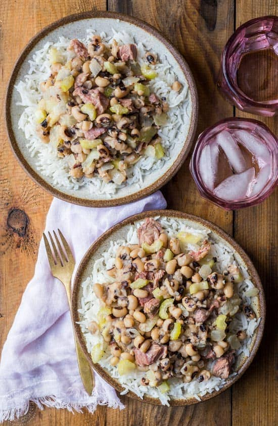 two bowls of hoppin' john