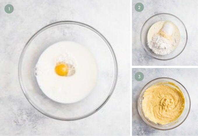 step by step visual guide for making gluten free cornbread