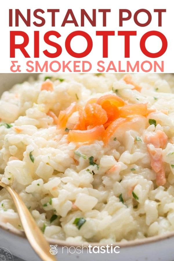 Instant pot smoked salmon risotto recipe photo