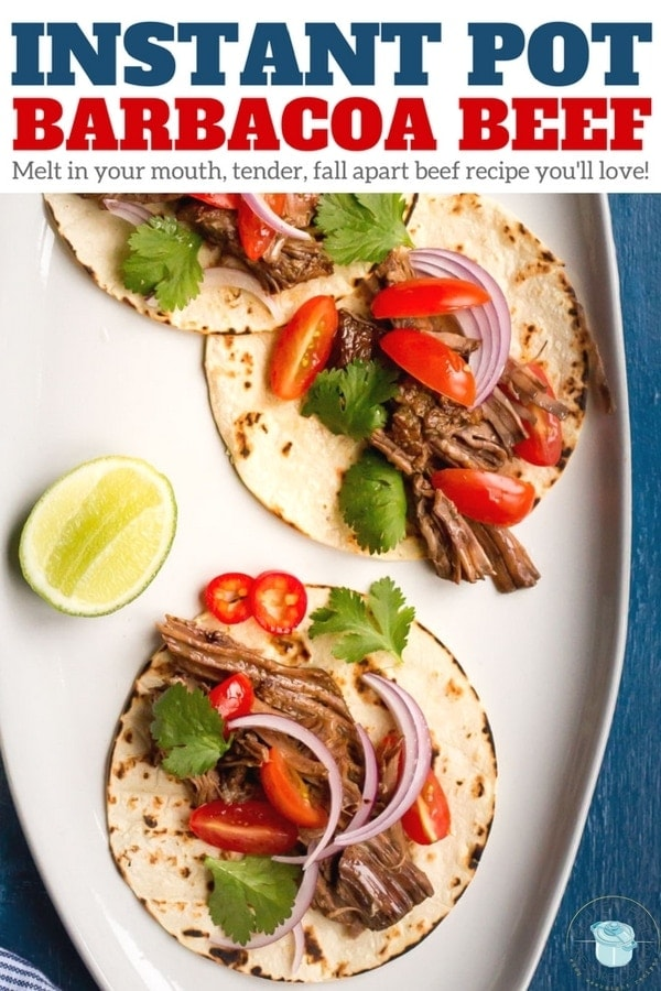 Instant Pot Barbacoa Beef, a melt in your mouth tender, fall apart Mexican beef recipe you'll love! Easy Pressure Cooker Recipe that's gluten free, paleo, and whole30. | www.noshtastic.com | #instantpotbarbacoa #instantpotbeef #instantpot #instapot #electricpressurecooker #glutenfreepressurecooker #glutenfreeinstantpot #glutenfree #barbacoa
