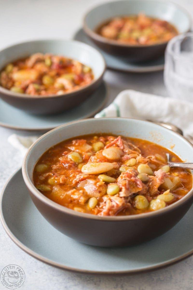 Instant pot brunswick stew recipe | www.noshtastic.com | #Brunswickstew #instantpotbrunswickstew #instantpotchicken #pressurecookerpork #instantpot #instapot #electricpressurecooker #glutenfreepressurecooker #glutenfreeinstantpot #glutenfree