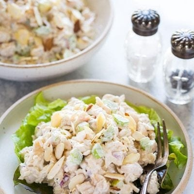 Easy Low Carb Chicken Salad Recipe you'll love! | www.noshtastic.com | #chickensalad #lowcarbchickensalad #glutenfreechickensalad #paleochickensalad #whole30chickensalad #paleochicken #healthysalad #w30salad #whole30 #whole30chicken #glutenfree #noshtastic #glutenfreerecipe