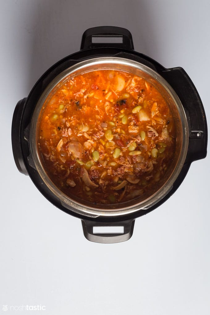 How to make Instant Pot Brunswick Stew step three