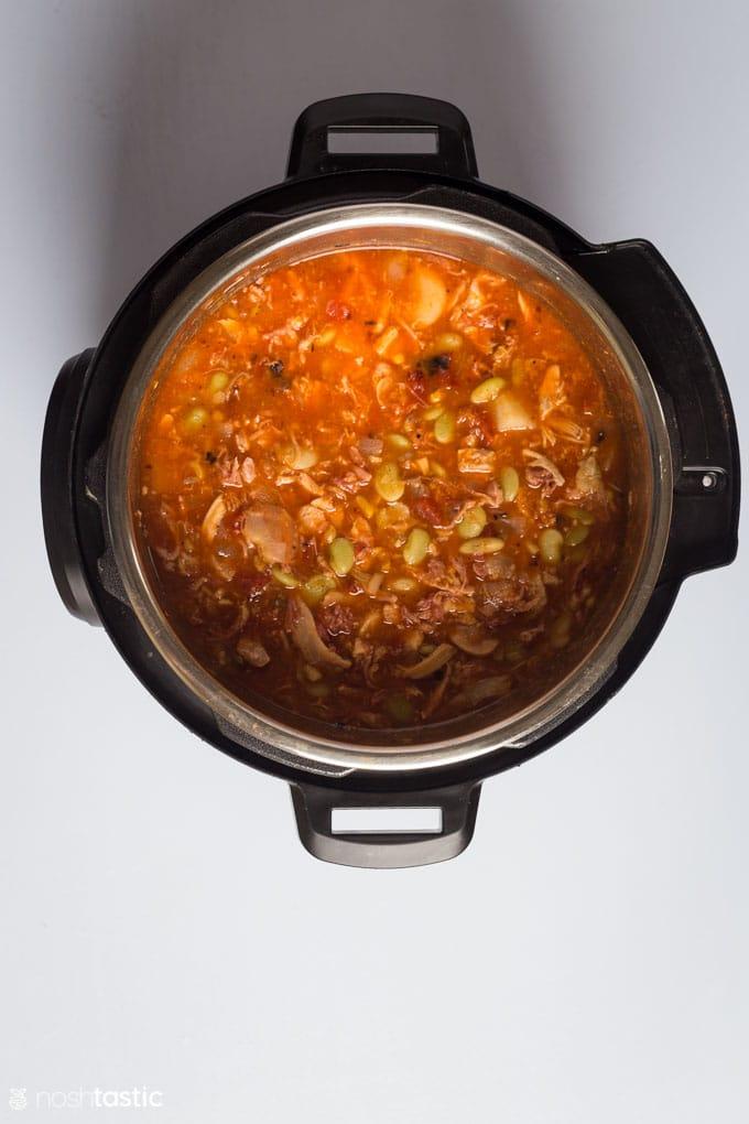 How to make Instant Pot Brunswick Stew step three