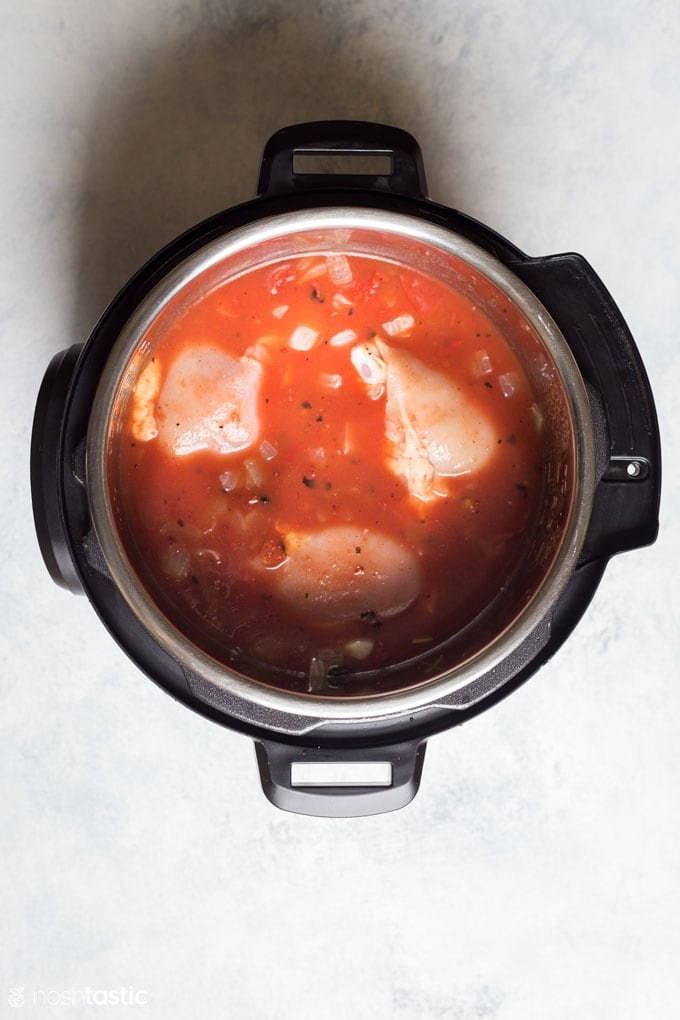How to make Instant Pot Brunswick Stew Step two