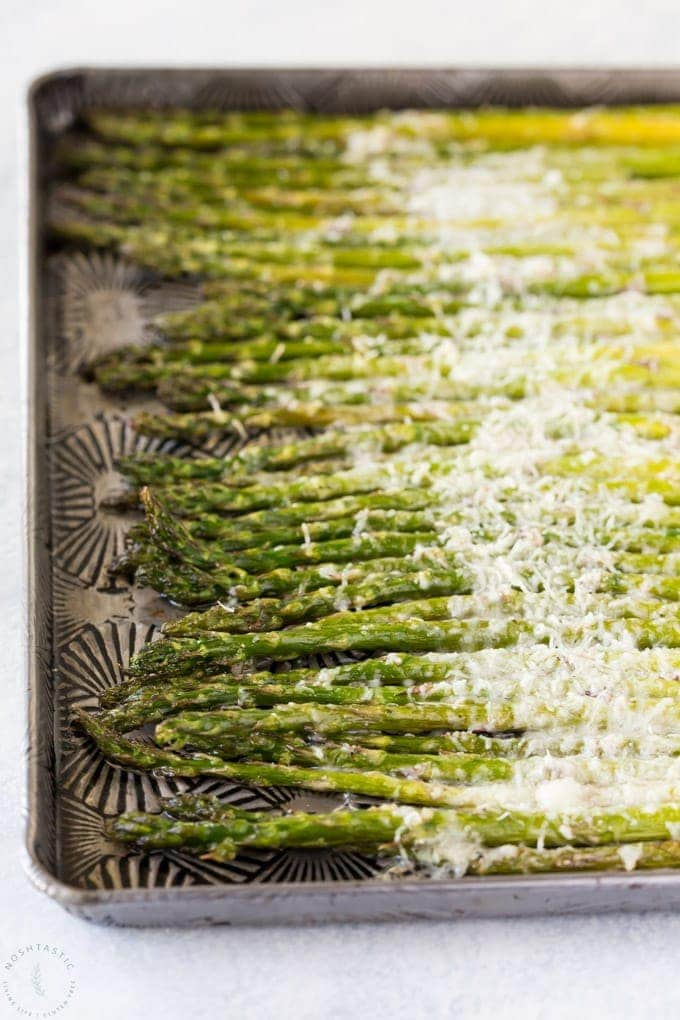 roasted asparagus with cheese