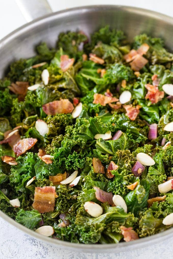 sauteeed kale with bacon
