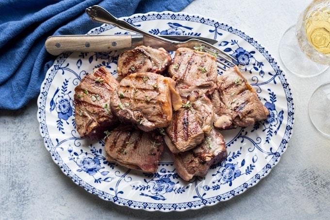 lamb chops recipe on a platter