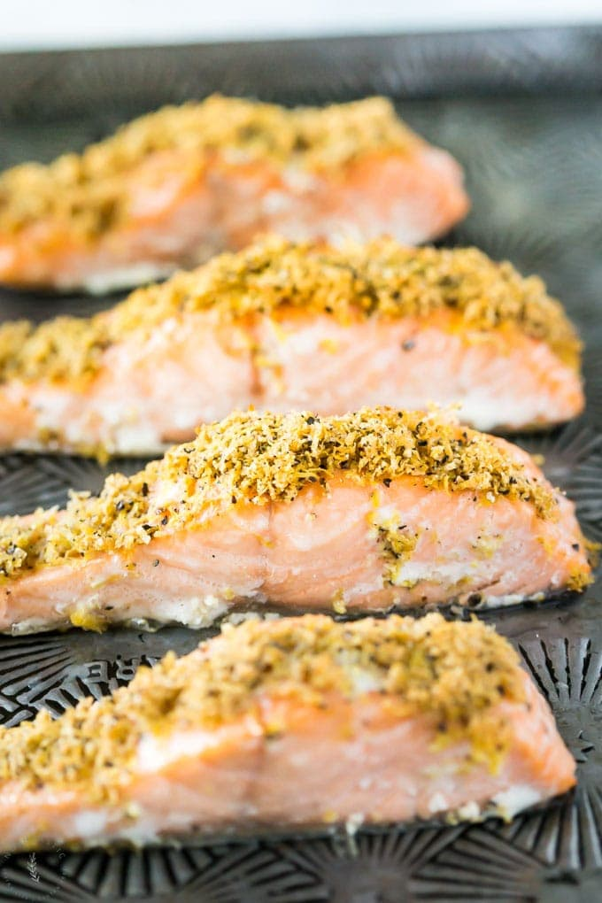 Grilled Lemon Pepper Campfire Salmon - This Lil Piglet