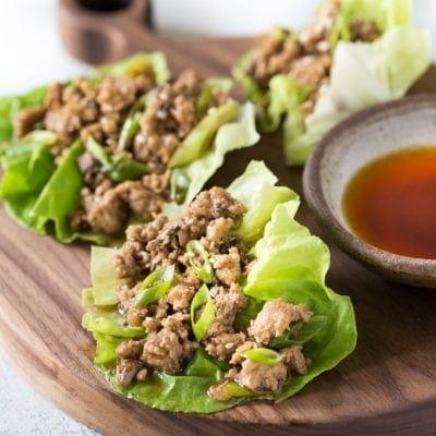 Keto Low Carb Chicken Lettuce Wraps