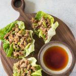 Keto Low Carb Chicken Lettuce wraps recipe photo