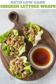 Keto Low Carb Chicken Lettuce wraps recipe photo