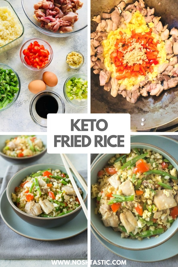 How to make low carb keto fried rice with chicken
