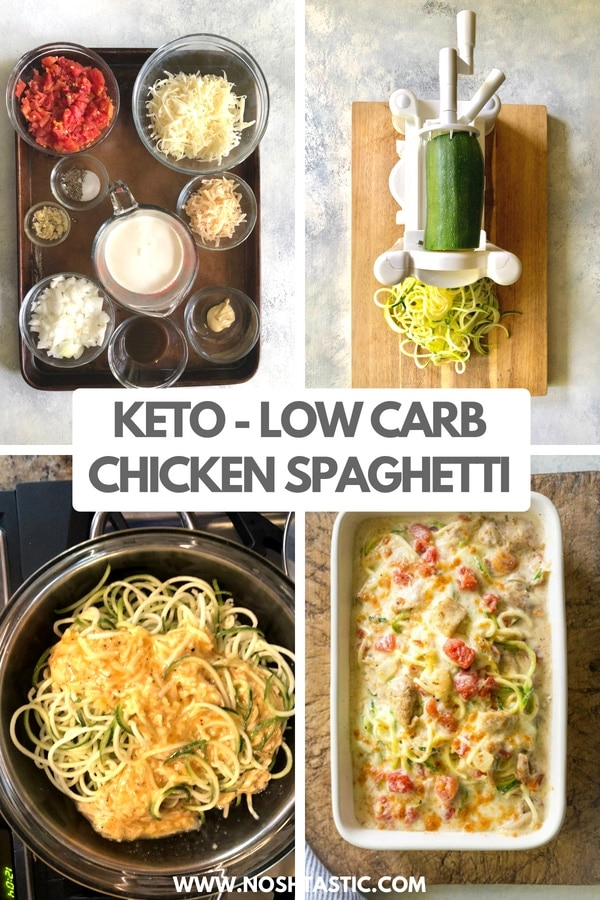 Low Carb Chicken Spaghetti - Noshtastic