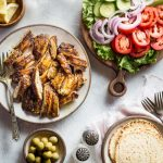 Chicken Shawarma Recipe, an easy Lebanese style recipe that's low carb, keto, Paleo and Whole30 compliant, a perfect healthy weeknight chicken dinner! | www.noshtastic.com | #chicken #shawarma #lebanese #easy #quick #marinade #lowcarb #noshtastic #glutenfree #keto #ketodiet #ketogenic #ketorecipes #ketogenicdiet #paleo #paleodiet #whole30 #w30