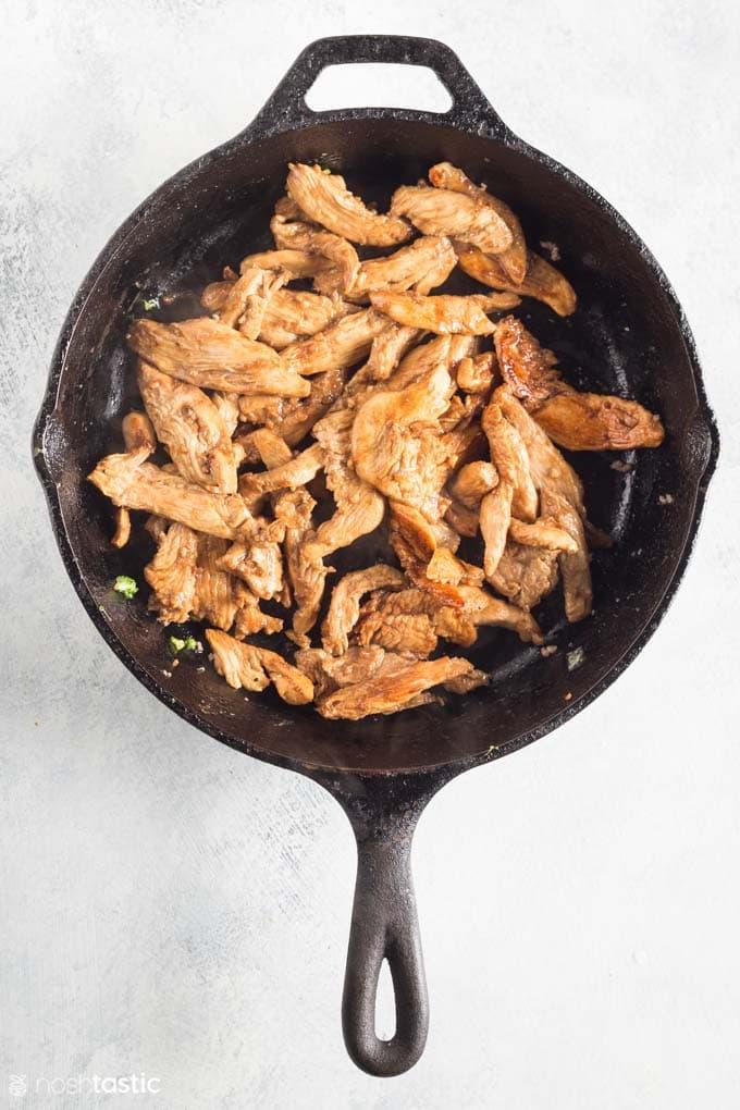 How to Make Keto Chicken Stir Fry - step 3