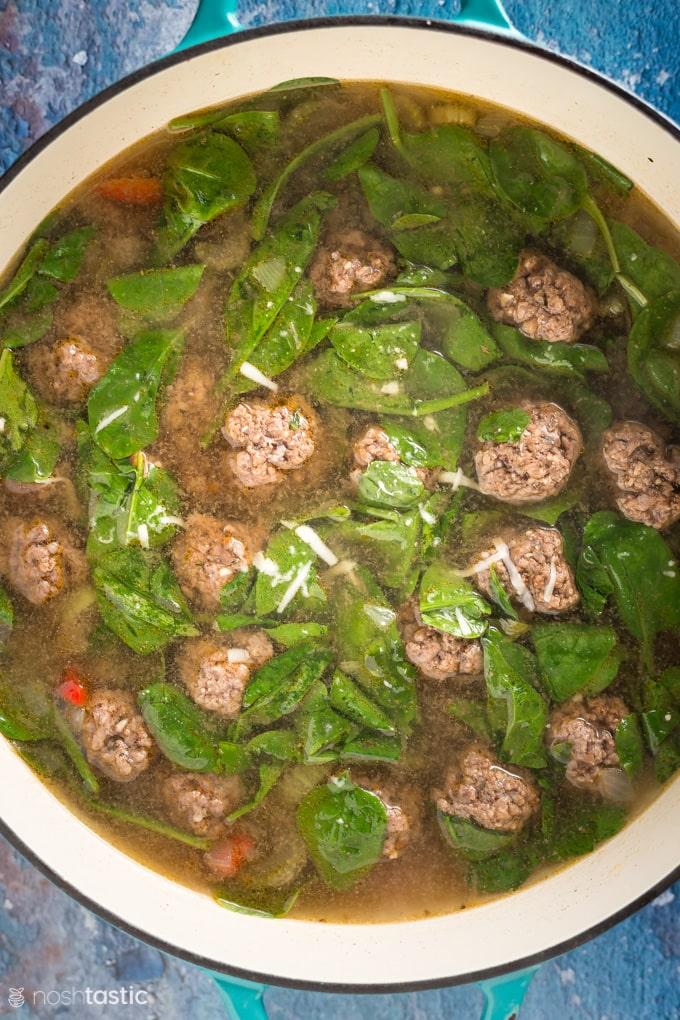 large pot of soup