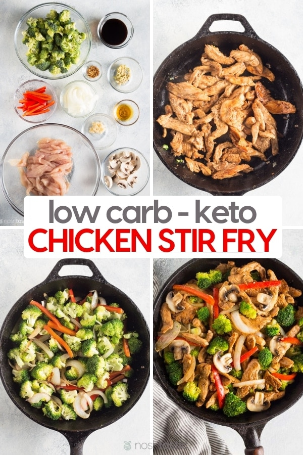 Keto Low Carb Chicken Stir Fry Noshtastic