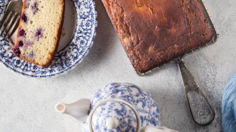 low carb lemon blueberry cake