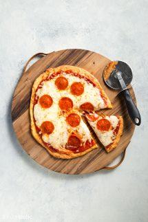 Fathead Pizza with Pepperoni Recipe