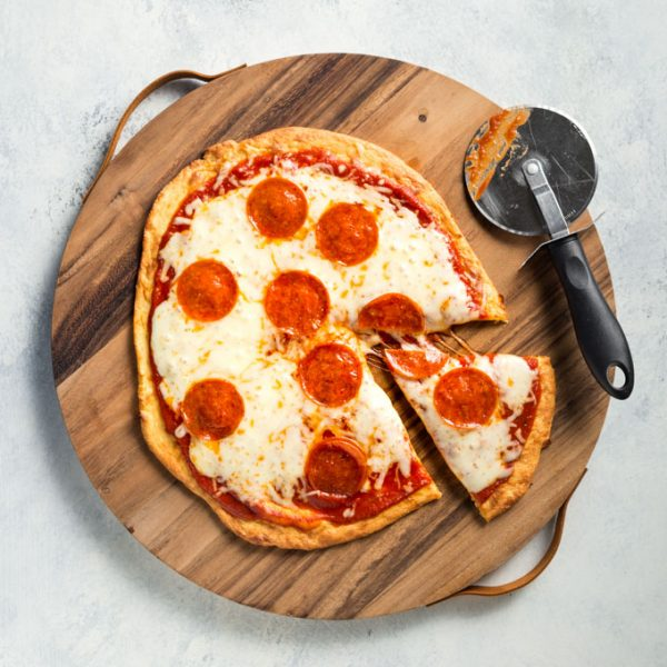 Fathead Pizza with Pepperoni Recipe