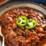 Keto Chili Recipe full of AMAZING flavors, you guys this low carb chili is the bomb! you'll love it, it's a great no bean chili recipe and it's also Paleo and Whole30 compliant | www.noshtastic.com | #lowcarb #keto #ketodiet #chili #noshtastic #glutenfree #beef #texas #nobeanchili #ketochili #lowcarbchili #paleochili #whole30chili #ketogenic #ketorecipes #ketogenicdiet #lowcarbrecipe #hflc #lchf #paleo #paleodiet #whole30 #w30