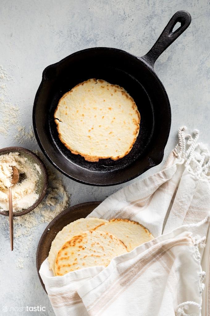 Low Carb Keto Coconut Flour Tortillas recipe